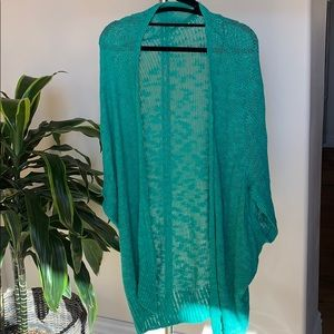 Silence + Noise Teal Sweater